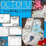Octopus Craftivity, Writing, Non-fiction passage & More!