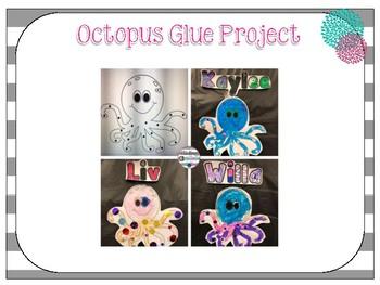 Octopus Glue Practice Project {freebie}
