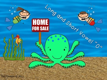 """Octopus' Home (Short and Long Vowel """"O"""" Words)"""