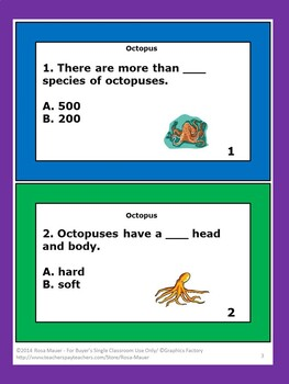 Octopus Task Cards