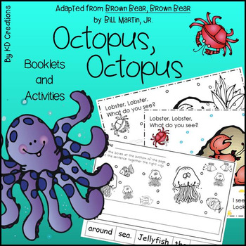 Octopus, Octopus for Kindergarten * Booklets * Alphabet Or