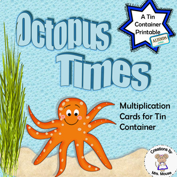 Math- Multiplication Cards (8 tables) - Octopus Times