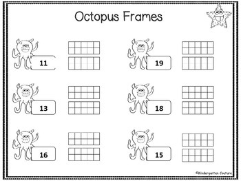 Octopus and Friends Math Practice Sheets