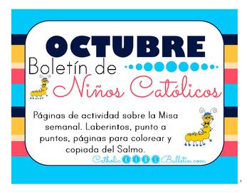 Octubre 2016 Boletín para Niños Católicos: Weekly Mass Act