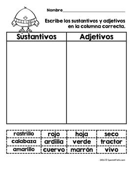 Octubre actividades y escritura- otoño (October Activities Spanish)