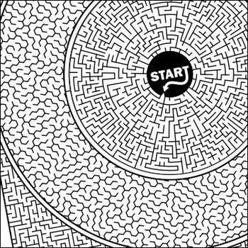 Ocular Maze - Intricate, full-page maze activity