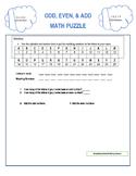 Odd Even Add Math Puzzle