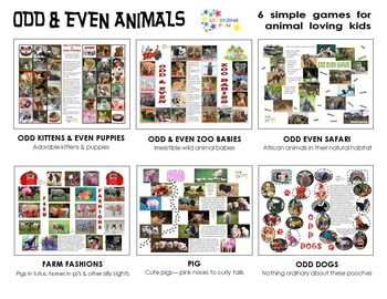 Odd & Even Animals - 6 simple games for animal lovers