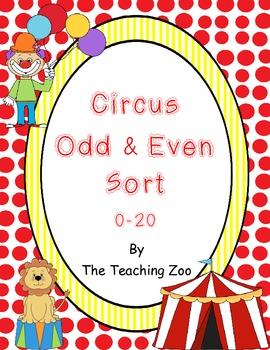 Odd & Even Circus Center Sort!!  {Common Core Center}