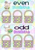 Odd & Even Easter Eggs ~ game and matching worksheet