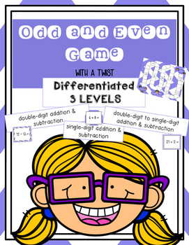 Odd Even GAME- with a twist -SOLVE- Is the sum or difference ODD OR EVEN??