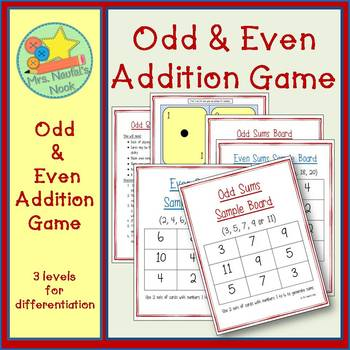 Odd & Even Numbers Game - Using Numbers 1 to 24