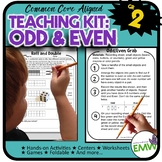 Odd and Even Kit  Activities  Worksheets  Games  and QR Codes 2.OA.3