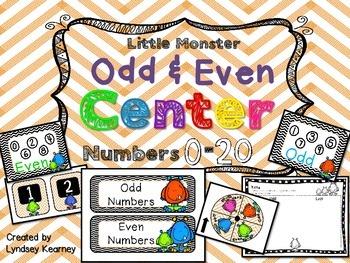 Odd & Even Monster Math Center