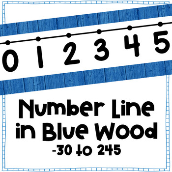 Odd-Even Number Line Wall Display ~ Wood Series in Blue ~ -30 to 245