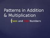 Odd & Even: Number Patterns