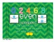 Odd & Even Number Posters---chevron style