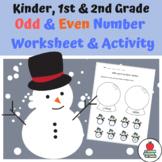 Odd & Even Number Snow Globe - Worksheet & Activity