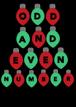 Odd & Even Number Sort Christmas Theme