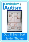 Spiders Odd Even Number Sort Mats Autism Special Education