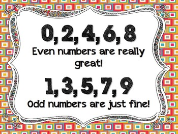 Odd & Even Numbers Poster