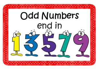 Maths Odd & Even Numbers Posters by Ms Forde's Classroom | TpT