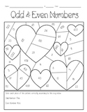 Odd & Even Numbers Valentines Coloring Page