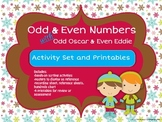 Odd & Even Numbers with Odd Oscar & Even Eddie-Activity Set and Printables