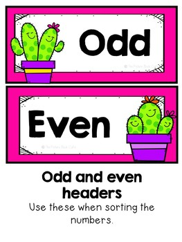 Odd and Even Sorting Activity and Worksheets