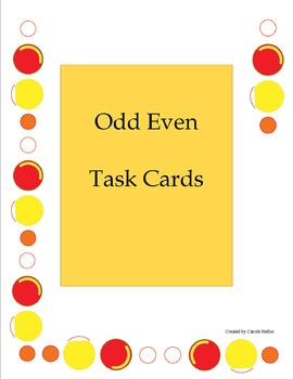 Odd Even Task Cards