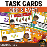 Odd & Even Task Cards (Fall Themed)