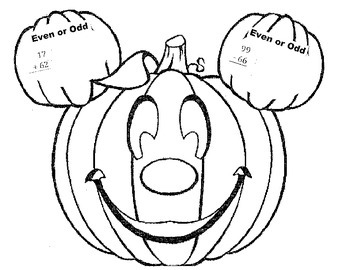 Odd Even plus Addition/Subtraction Pumpkin Activity (Fall)