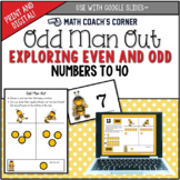 Odd Man Out: Exploring Even and Odd Numbers to 40, Print a
