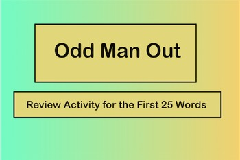 Odd Man Out Review Activity