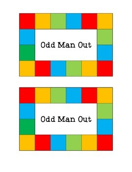 Odd Man Out: Self-Check Activity