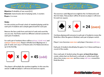 Odd Man or Even Man Out (Probability Game)