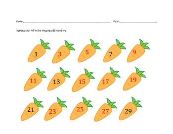 Odd Number Counting Carrots