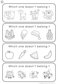 Odd One Out Strips - Special Education