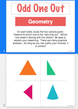 odd one out geometry powerpoint by mindy jurus tpt