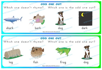 Odd One Out - Rhyming Game