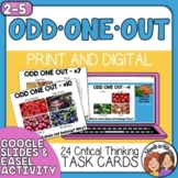 Odd One Out Task Cards - Critical and Creative Thinking Challenges