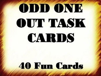 Odd One Out Task Cards (40 Cards)