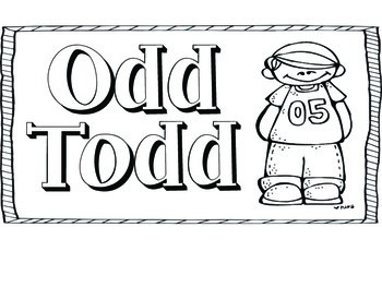 Odd Todd & Even Steven Signs and Numbers FREEBIE
