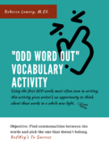 Odd Word Out (First 200 High-Frequency Words)