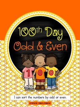 Odd and Even 100th Day of School Sort