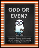 Odd and Even Numbers | Halloween Activity