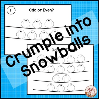 "Odd and Even Game ""Snowball Fight"" (1st and 2nd Grade)"