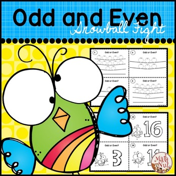 Odd and Even Game: Snowball Fight for 1st and 2nd Grade