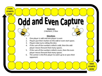 Odd and Even Capture: A 2-Player Game to Identify Odd and Even Numbers