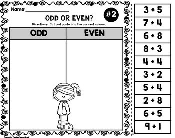 Odd and Even Worksheets Cut and Paste